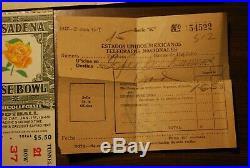 1949 Rose Bowl Football Program Northwestern California 2 Tickets Stubs Map