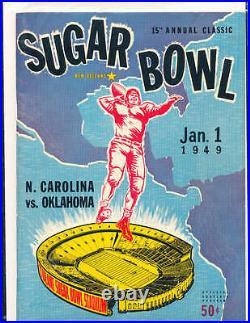 1949 Sugar bowl Football Program North Carolina vs Oklahoma