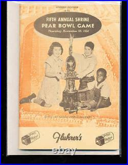 1950 11/23 Pear Bowl Game Football program San Francisco State vs Lewis And Clar