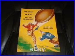 1950 Eddie Le Baron Vs Bob Celeri All Stars Lodi Grape Bowl Football Program