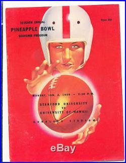 1950 Pineapple Bowl Football program Stanford vs Hawaii