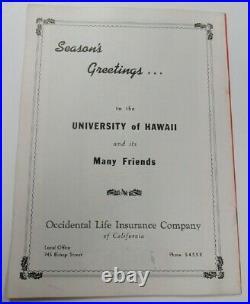1950 Pineapple Bowl Program Stanford v Hawaii 1/2 Honolulu Stadium Ex/MT 68890