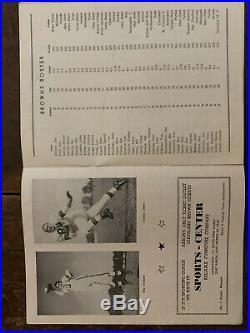1950 RUBBER BOWL Cleveland v Detroit football program/BROWNS 1st NFL game-EX+