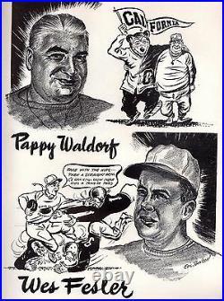 1950 Rose Bowl football program Ohio State Buckeyes vs. California Bears VG