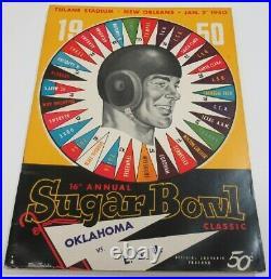 1950 Sugar Bowl Program LSU Tigers v Oklahoma Sooners Ex/MT+ Very Nice 68567