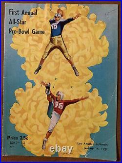 1951 1st Annual All-Star Pro-Bowl Football program/CHUCK BEDNARIK