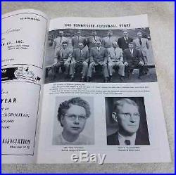 1951 Cotton Bowl Football Program Tennessee Volunteers vs Texas Longhorns