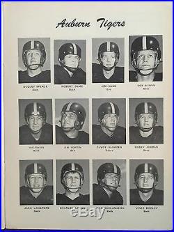 1951 IRON BOWL Alabama vs Auburn Historic Series Resumed 4th Football Program