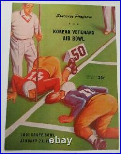 1951 Korean Vets Aid Bowl Program All Stars Joe Perry Leo Nomellini Ex+ 68874