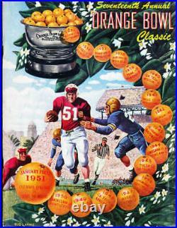 1951 Orange Bowl football Program Clemson vs Miami