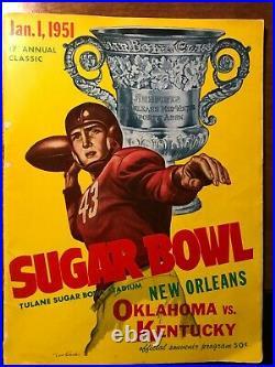 1951 Sugar Bowl Program Kentucky vs. Oklahoma