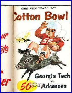1952-1961 Cotton Bowl Football Programs hardbound sbx6