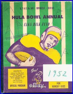 1952 Hula Bowl All Americans football program Ollie Matson, etc