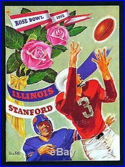 1952 Rose Bowl RARE Illinois Stanford Football Program indians