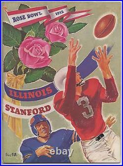 1952 Rose Bowl football program Illinois Fighting Illini v Stanford Indians VG