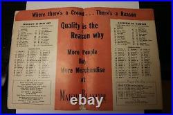 1952 Sugar Bowl Classic Program Ncaa Football Rare Maryland Vs Tennessee