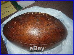 1952 Usc Trojans Rose Bowl Team Autographed Football & 10 Game Programs 1927-58