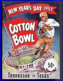 1953 Cotton Bowl Program Texas Longhorns v Tennessee Vols Ex+ 56856