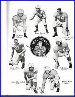 1953 Cotton Bowl Program Texas-Tennessee Longhorns Blank Volunteers