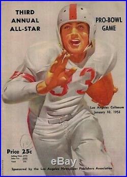 1953 Pro Bowl Game 38-Page Program Detroit Lions Halfback Don Doll MVP Nice