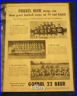 1953 Pro Bowl Third Annual All Star Football Program