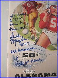 1954 COTTON BOWL PROGRAM ALABAMA vs RICE DICK MAEGLE SIGNED TAKES A 12th MAN TO