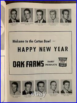 1954 Cotton Bowl Alabama vs Rice Football Program/ famousDICKIE MOEGLET. D. Run