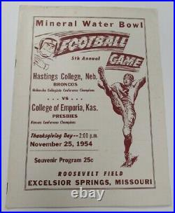 1954 Mineral Water Bowl Hastings v Emporia 11/25 Very Rare Ex 68838