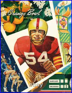 1954 Orange Bowl football Program Maryland vs Oklahoma