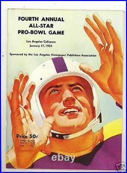 1954 Pro Bowl Football Program & stats sheet nm