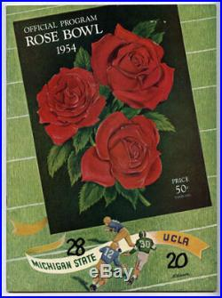 1954 Rose Bowl RARE Michigan State UCLA Football Program Spartans v Bruins