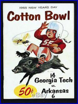 1955 Cotton Bowl RARE Georgia Tech Arkansas Football Program Frank Broyles