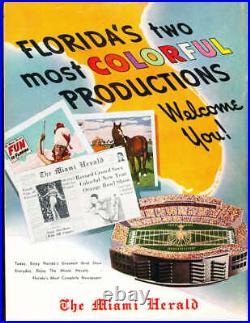 1955 Orange Bowl football Program Duke vs Nebraska