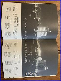 1955 Sun Bowl Florida St-Texas Western Football Program/BURT REYNOLDS/LEE CORSO