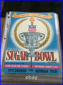 1956 Georgia Tech Pittsburgh Sugar Bowl Football Game Program Yellow Jackets