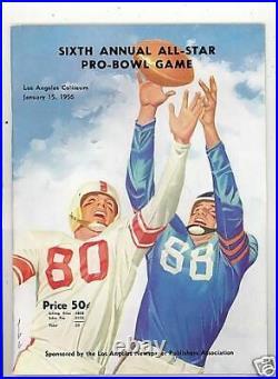 1956 NFL Pro Bowl Football Program em bxnfl