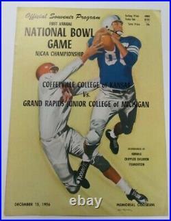1956 NJCAA Championship Bowl Program Coffeyville v Grand Rapids Ex/MT 68894