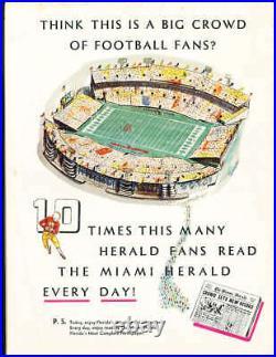 1956 Orange Bowl football Program Maryland vs Oklahoma