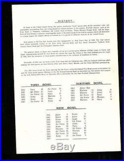1957 12/8 Marines vs Air Force Rice Bowl Football program inter service champio