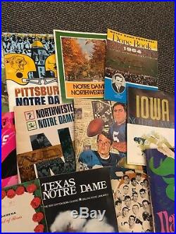 1957-78 Notre Dame Fighting Irish 19 Program Lot Bowl Football Basketball Vg