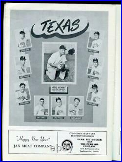 1957 Gator Bowl Program Texas A&M v Tennessee Bear Bryant Junction Boy Ex+ 68478