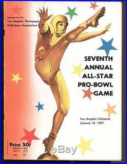 1957 NFL Pro Bowl Football Program LA Coliseum 1/13/57 Ex 35205