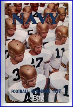 1957 Navy Cotton Bowl Champs RARE Football Media Guide VTG NCAA program