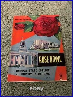 1957 Rose Bowl Program Oregon State Beavers v Iowa Hawkeyes Football Program