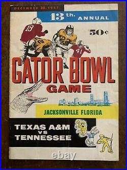 1957 Texas A&M vs Tennessee football program Bear Bryants only bowl game at A&M