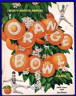 1958 Orange Bowl-duke Vs. Oklahoma-football Program