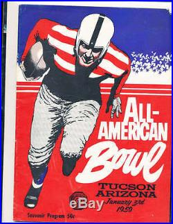 1959 All American Bowl Football Program, Tucson, AZ small & large colleges