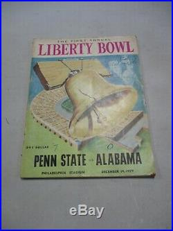 1959 First Annual Liberty Bowl Penn State Vs Alabama College Football Program