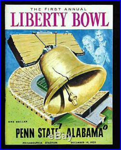 1959 Liberty Bowl RARE Penn State Alabama Football Program VTG Bear Bryant