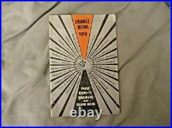 1959 ORANGE BOWL MEDIA GUIDE Program OKLAHOMA SOONERS SYRACUSE ORANGEMEN 1958 AD
